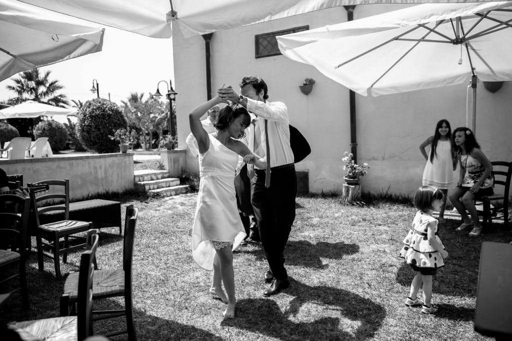 primo ballo sposi al ricevimento di matrimonio in sicilia