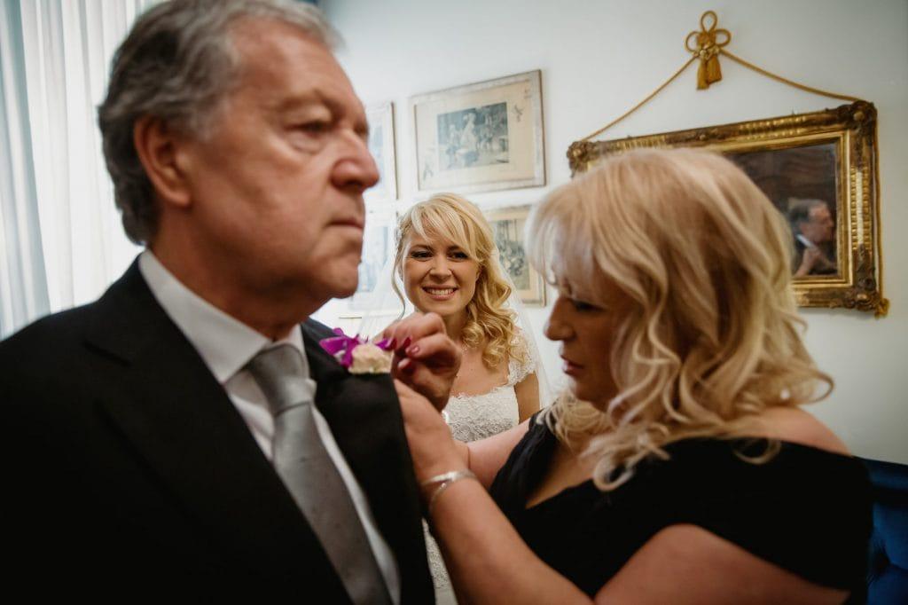 madre e padre della sposa
