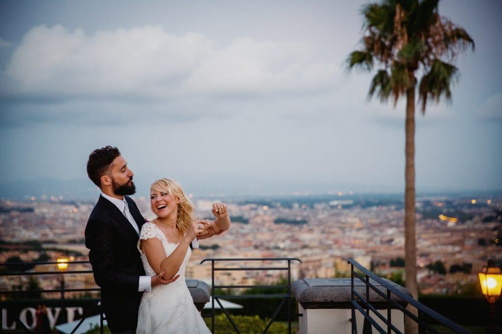 gli sposi felici a villa miani