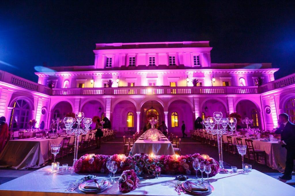 foto panoramica villa miani allestita per matrimonio