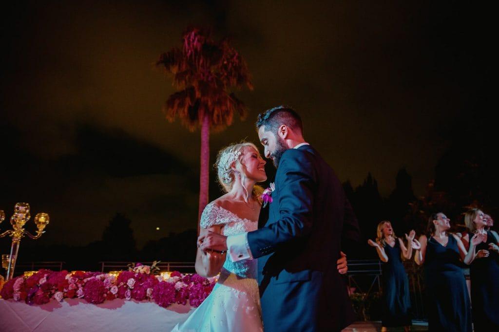 gli sposi e il primo ballo di nozze a villa miani