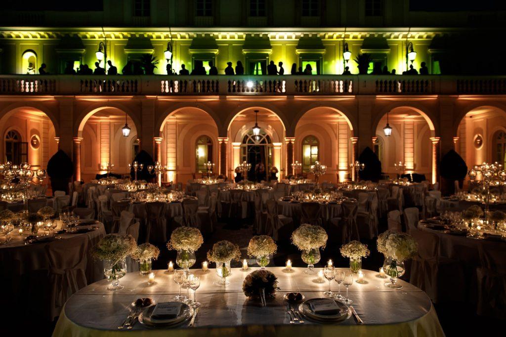 allestimento tavoli di matrimonio a villa miani