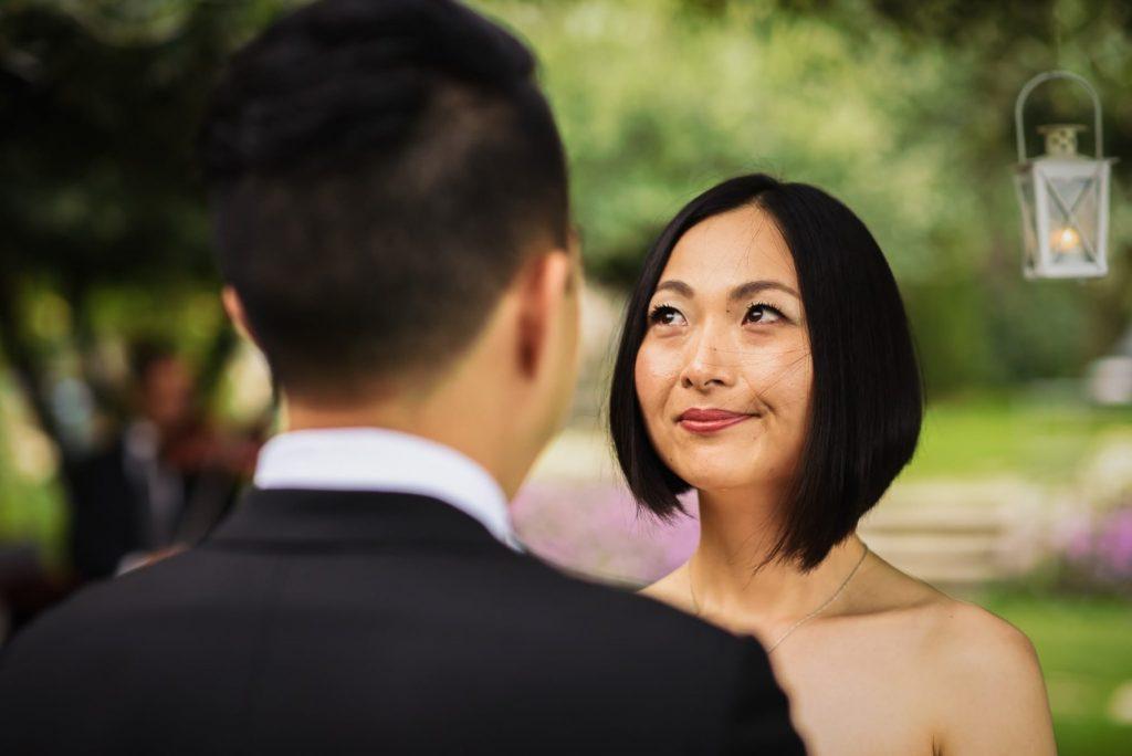 sposa commossa durante le promesse al matrimonio hotel caruso ravello