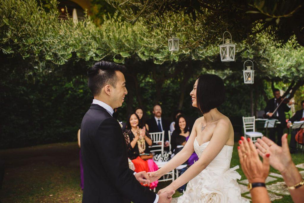 sposi al matrimonio hotel caruso ravello