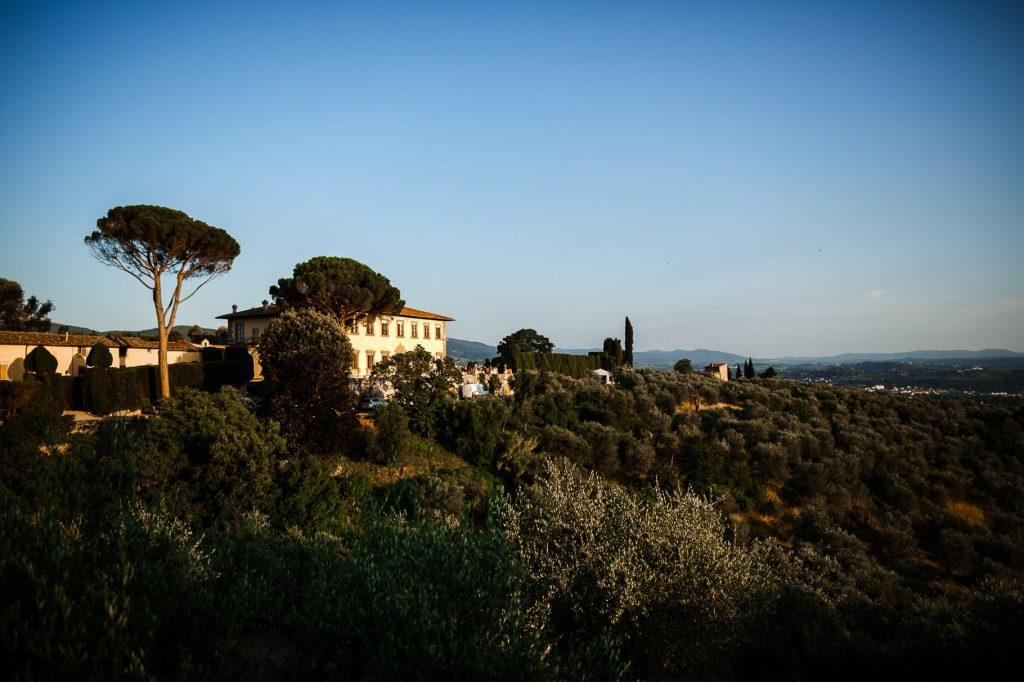 panoramica di villa gamberaia