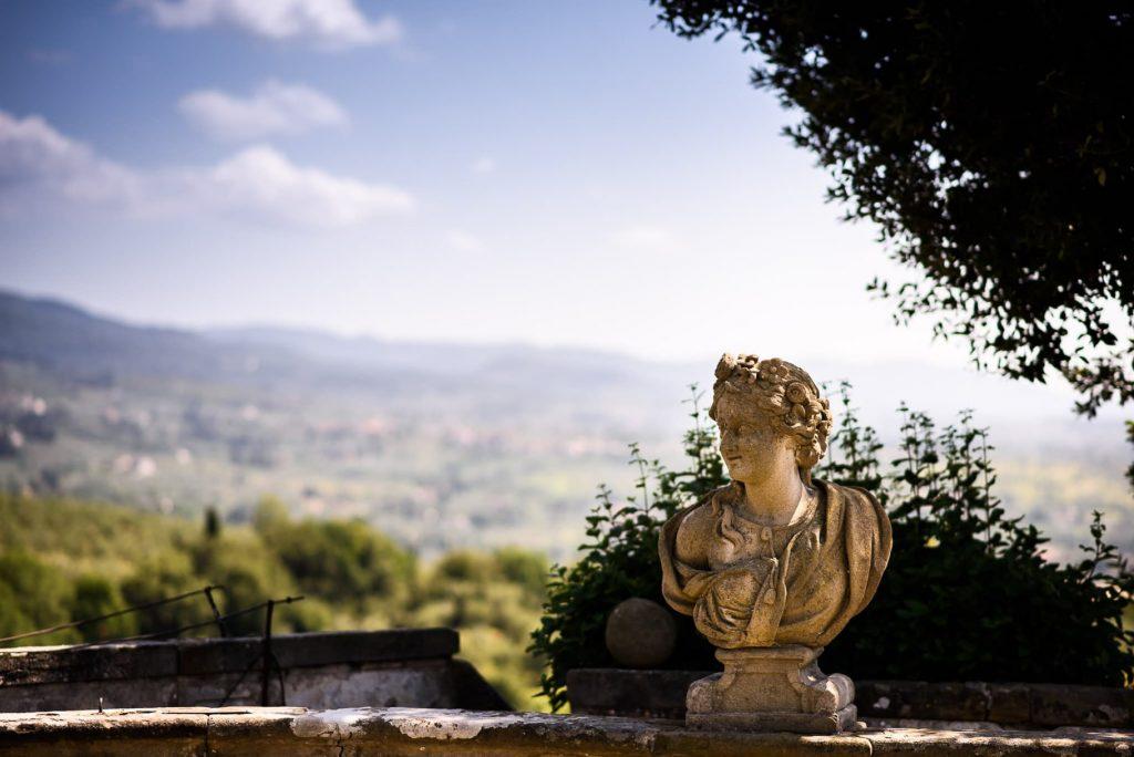 Villa Gamberaia Firenze busto in marmo