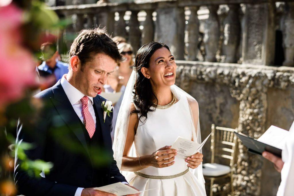 gli sposi al matrimonio a villa gamberaia a Firenze