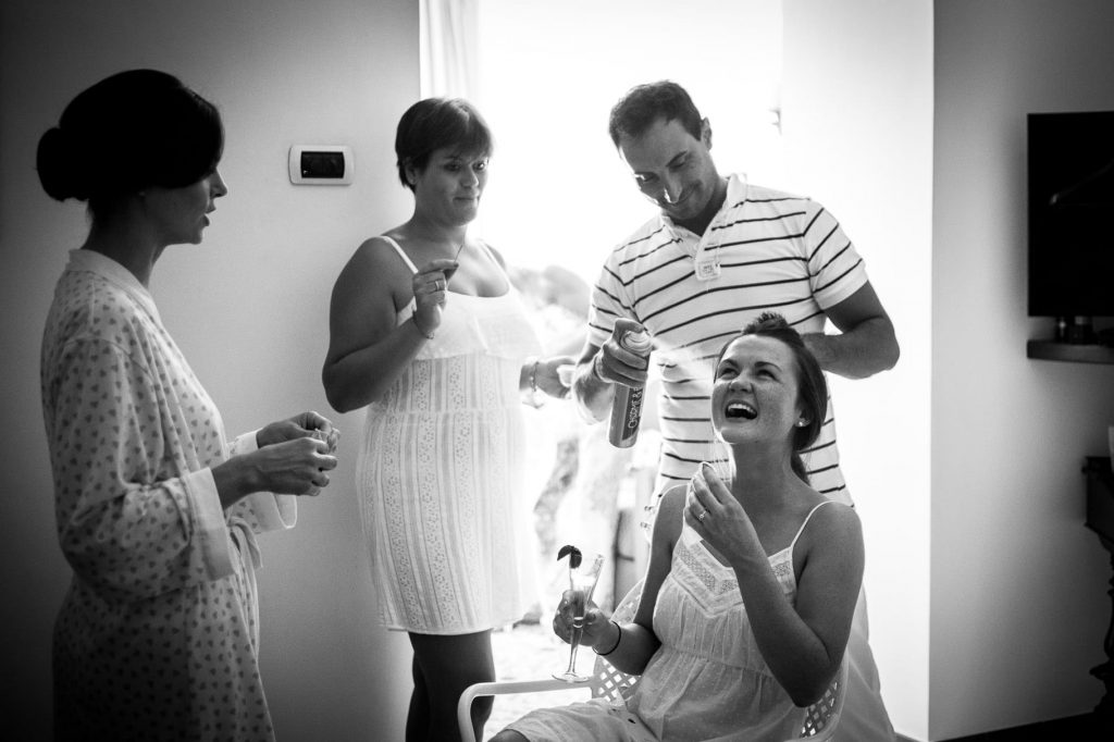 fotografo di matrimonio a ravello acconciatura della sposa