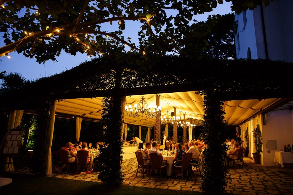 cena di matrimonio a villa eva a ravello