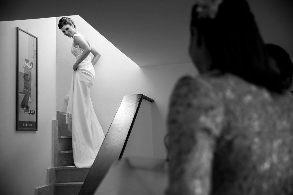 la sposa veronica martinelli con il vestito