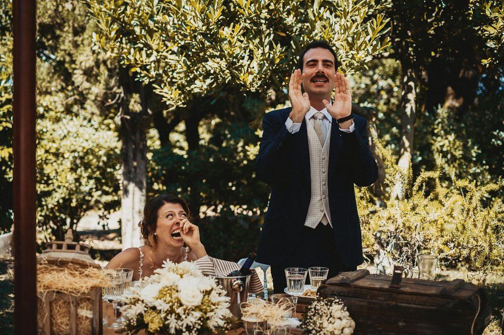 il discorso dello sposo prima dellÕinizio del pranzo di matrimonio a il conventino