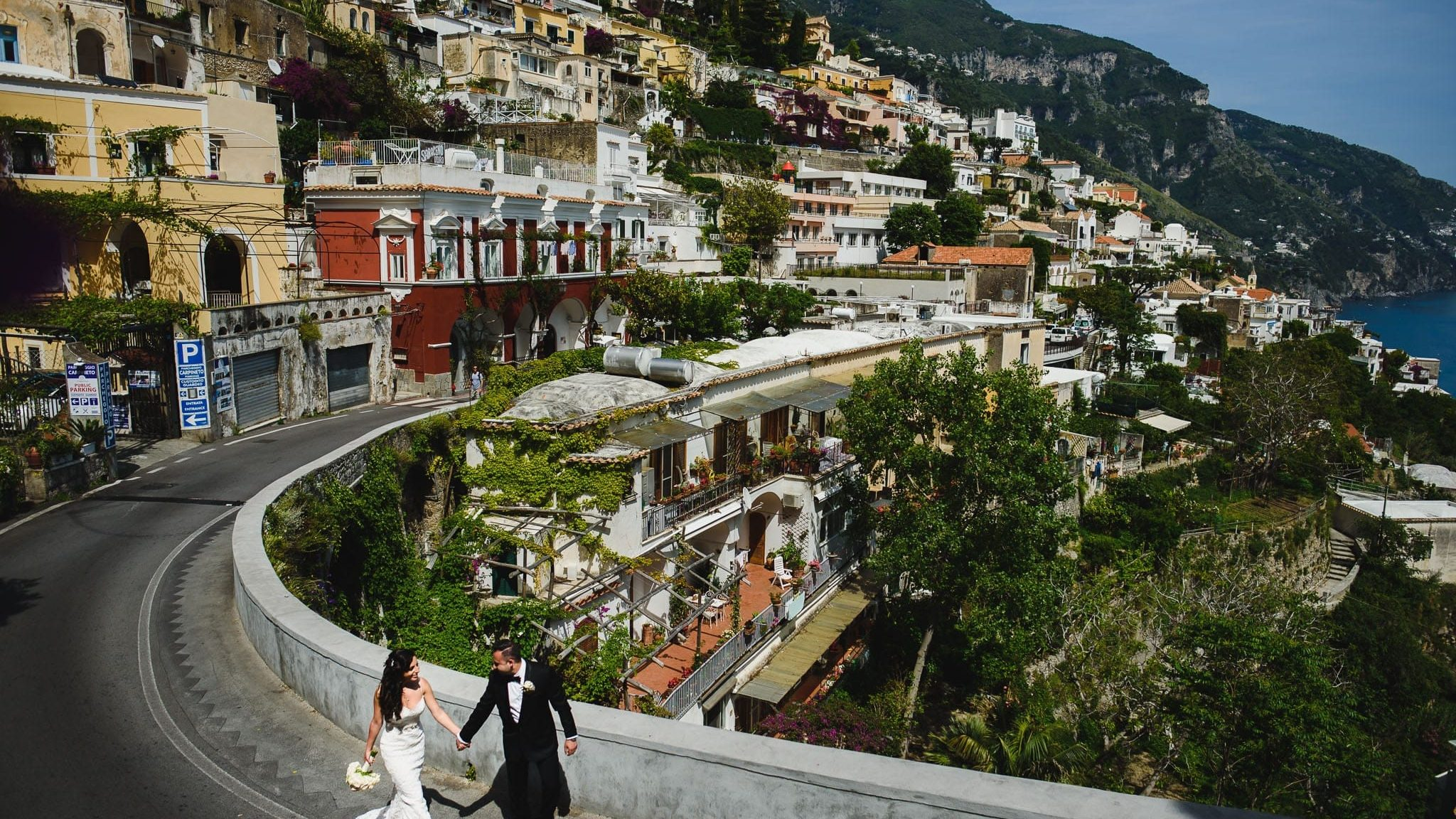 passeggiata sposi a positano prima del matrimonio al rada